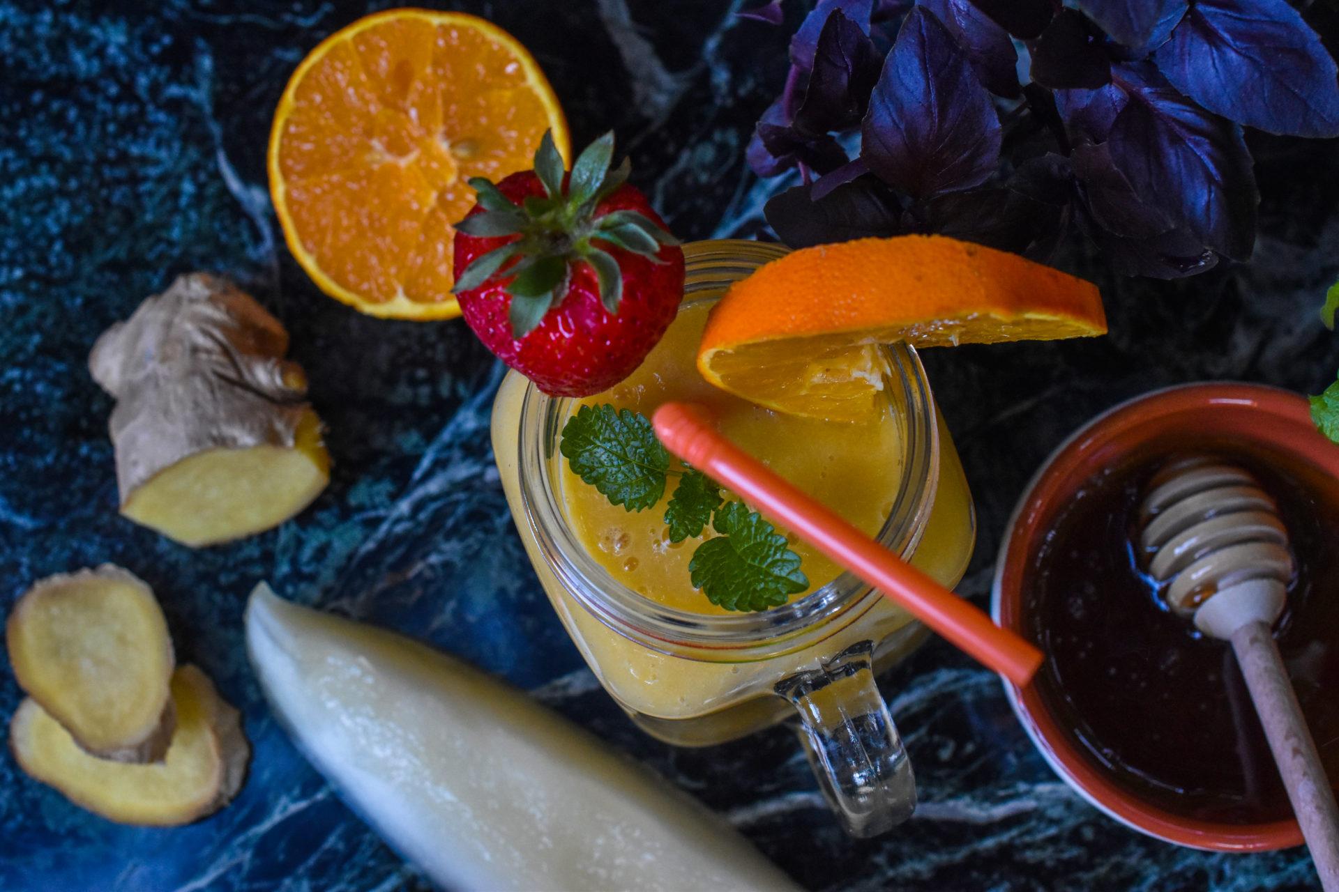 Sun-kissed mango pineapple smoothie
