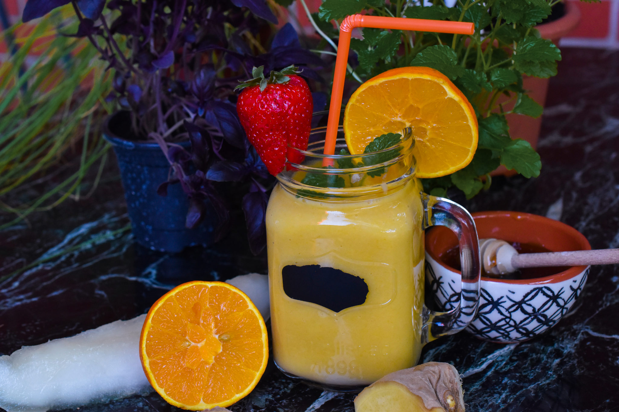 sun-kissed mango pineapple smoothie