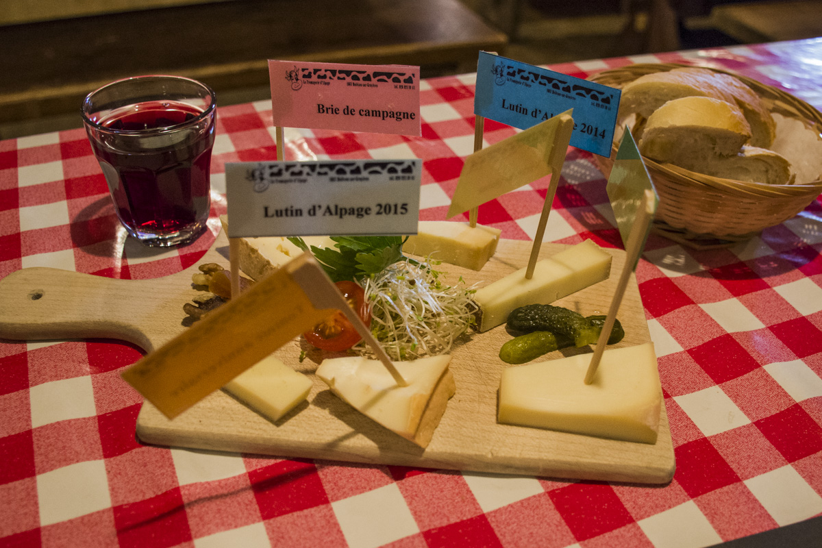 Alp cheese tasting
