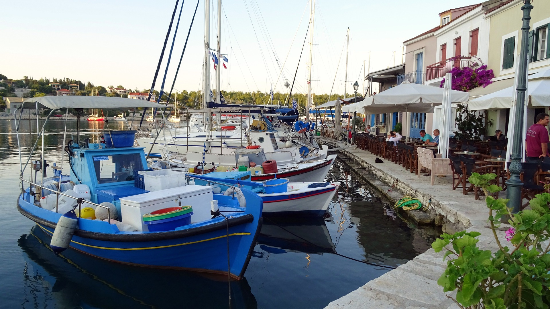 Fiscardo harbour, downloaded from the Internet