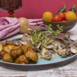 Creamy tarragon pork