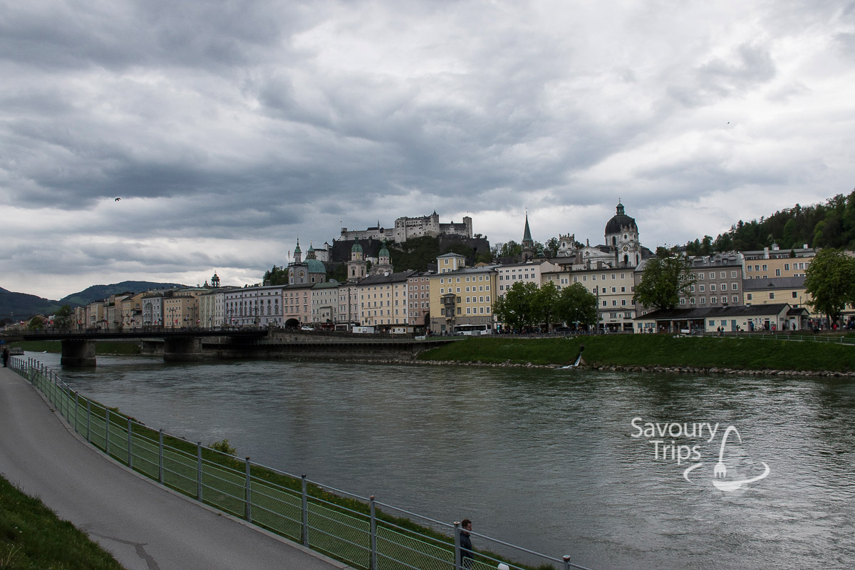 Salzburg Austria reka Salzach/Salzach River