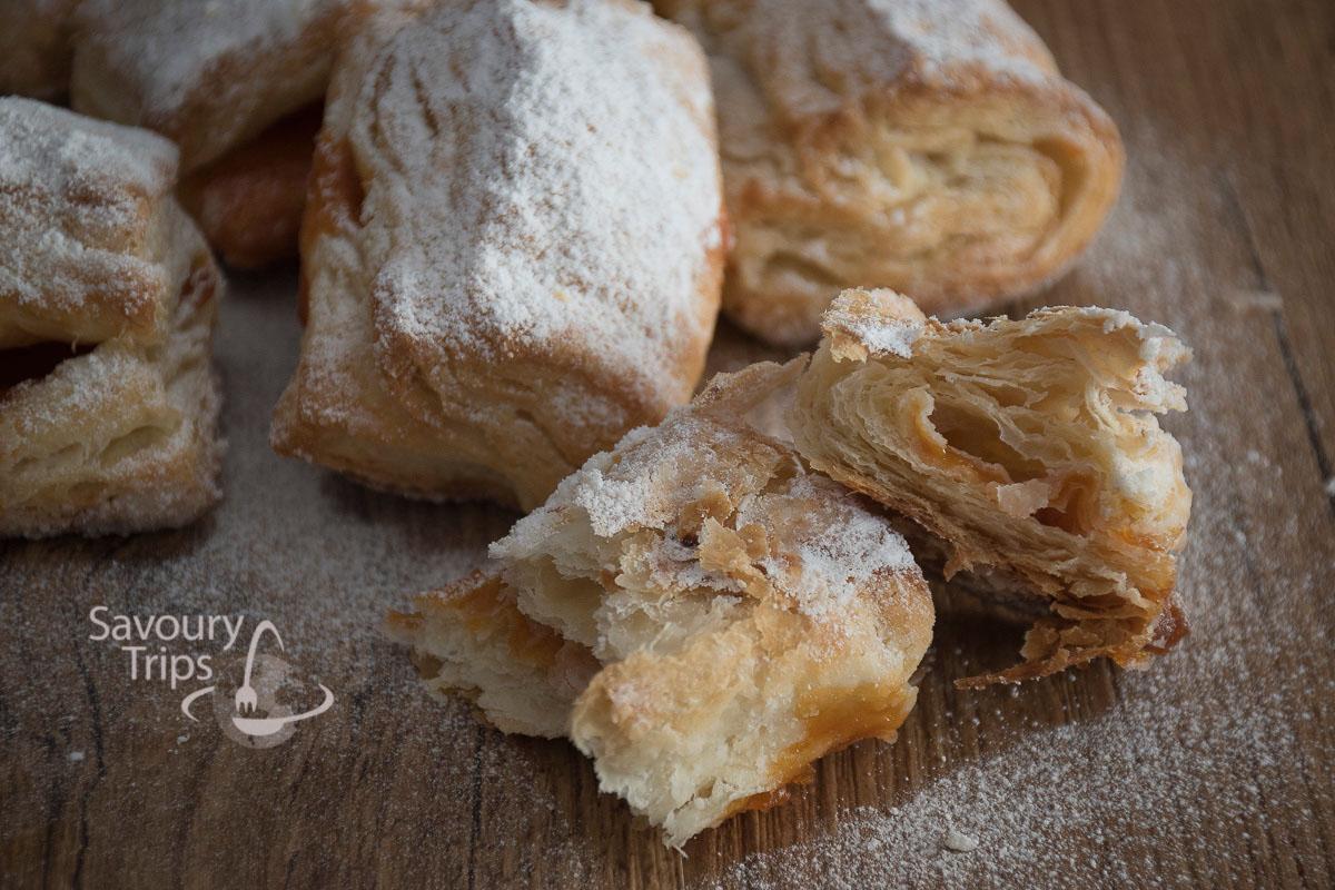 Domaći salašnjaci recept/homemade lard puff pastry wraps