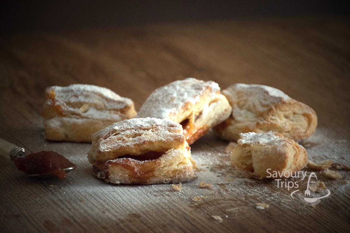 Domaći salašnjaci recept/ homemade lard puff pastry wraps
