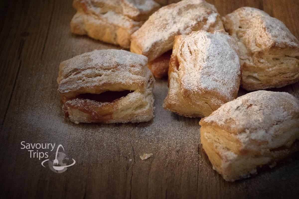 Domaći salašnjaci recept / homemade lard puff pastry wraps