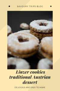 Linzer cookies traditional Austrian cookies made using original recipe