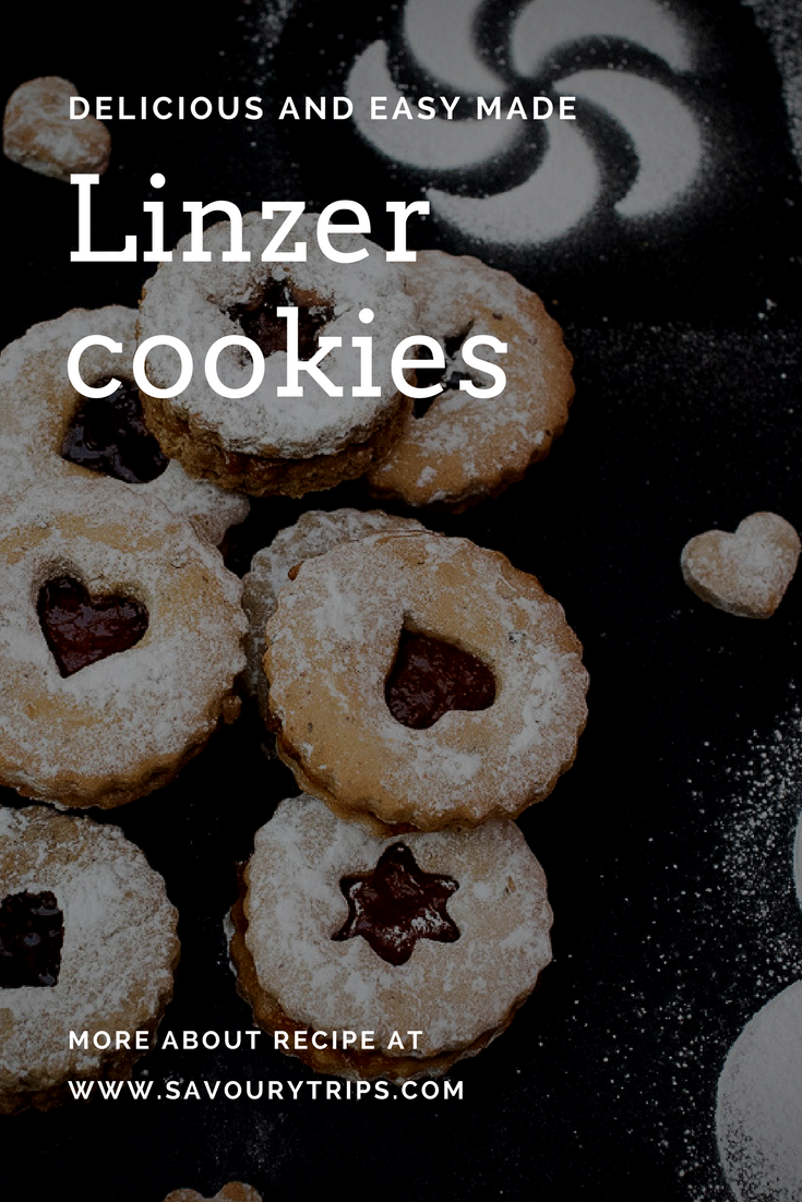 Linzer cookies traditional Austrian cookies made using original recipe