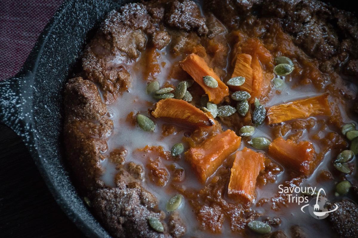Recept za francuske Galete sa bundevom / Pumpkin Galette Recipe