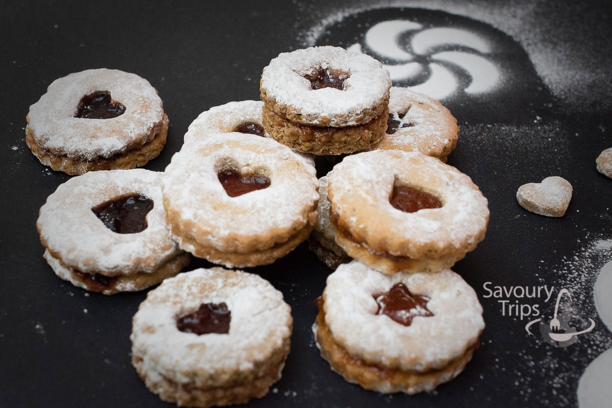Lincer kolačići / Linzer cookies recipe