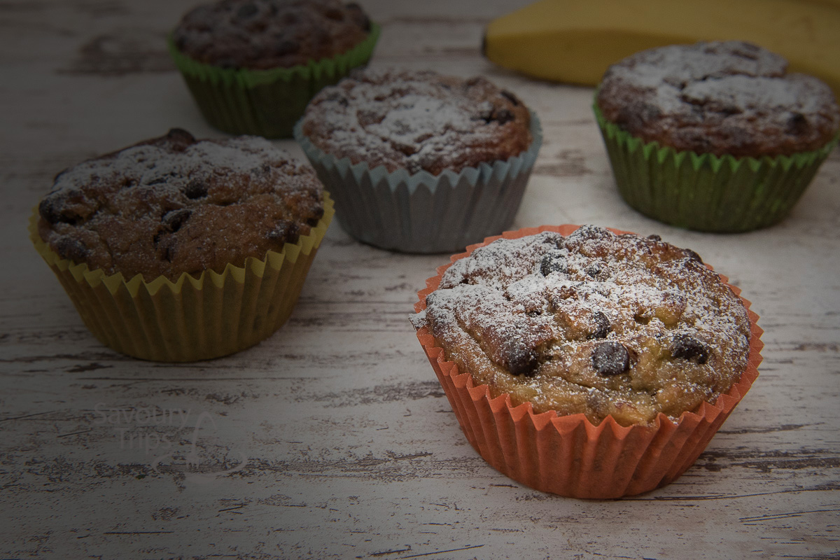 Mafini od banane / Healthy muffins