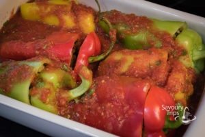 Posne punjene paprike pasuljem i kukuruzom / Stuffed bell pepper recipe on Mexican way