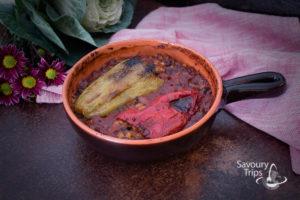 Posne punjene paprike pasuljem i kukuruzom / Stuffed bell pepper recipe on Mexican way
