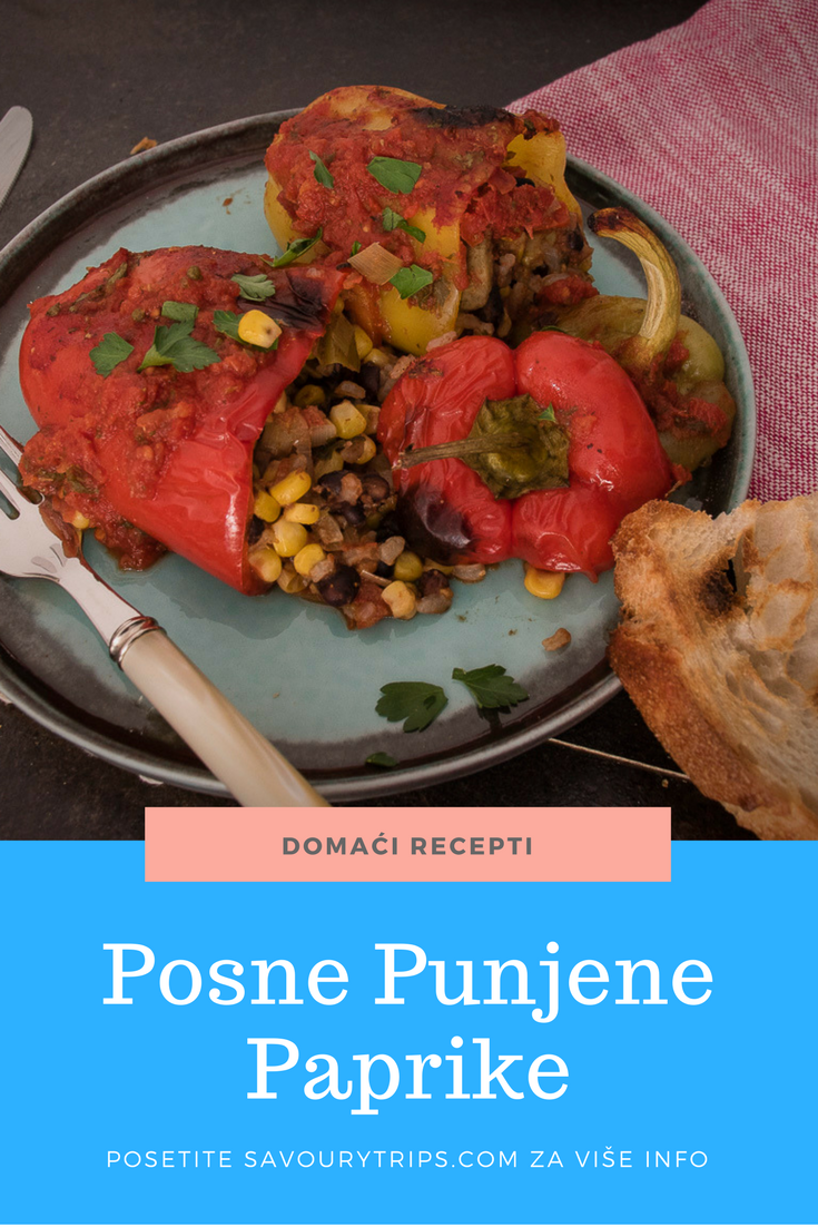Posne punjene paprike na balkanski način, recept