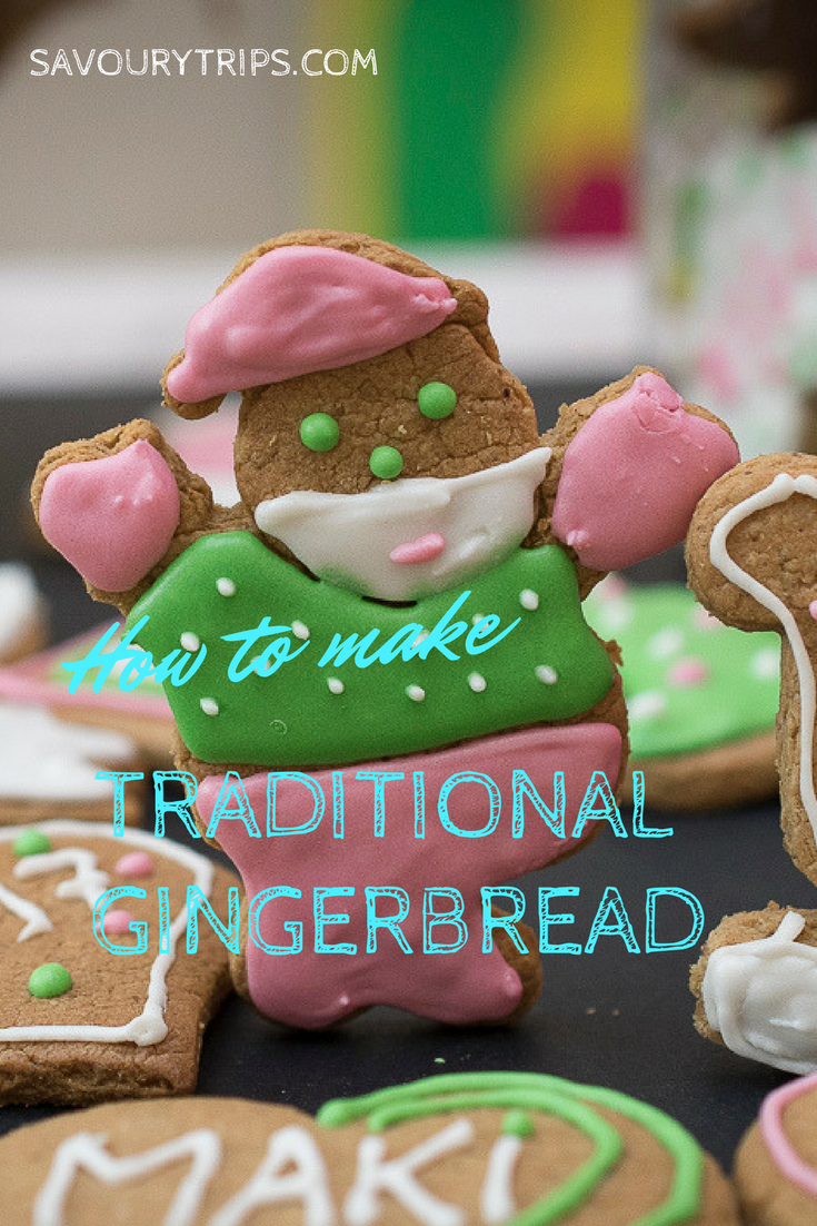 Traditional gingerbread cookies recipe with the easiest decoration