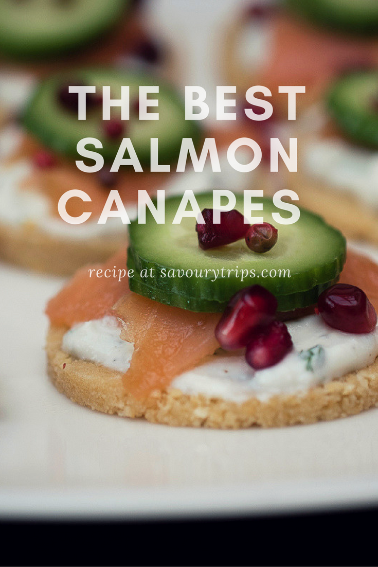 The best salmon canapes