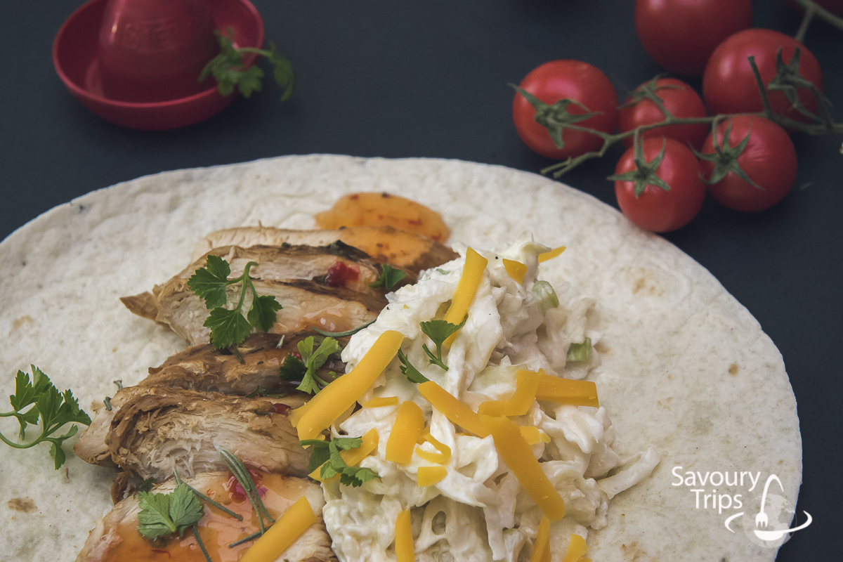 Recept za tortilje sa piletinom i mladim kupusom / Recipe chicken tortillas and baby cabbage