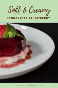 Panakota recept sa jagodama/ Pannacotta Recipe with strawberries