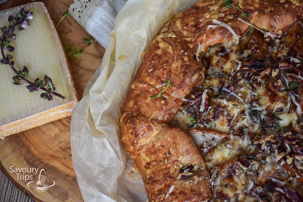 Domaća pita sa sirom / Homemade cheese pie with onion