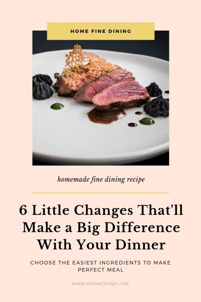 fine dining dinner ideas
