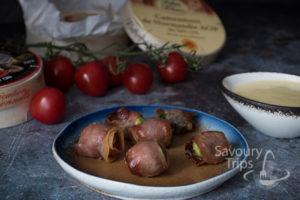 Topljeni sir, pršut i povrće