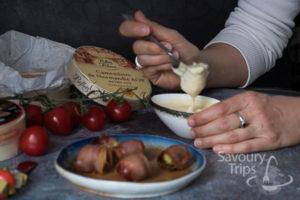 Topljeni sir i povrće