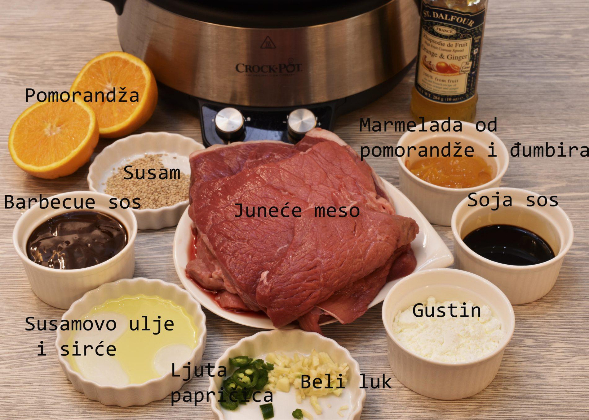 Beef in orange sauce