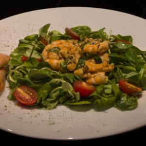 Letnja salata sa račićima (shrimps)