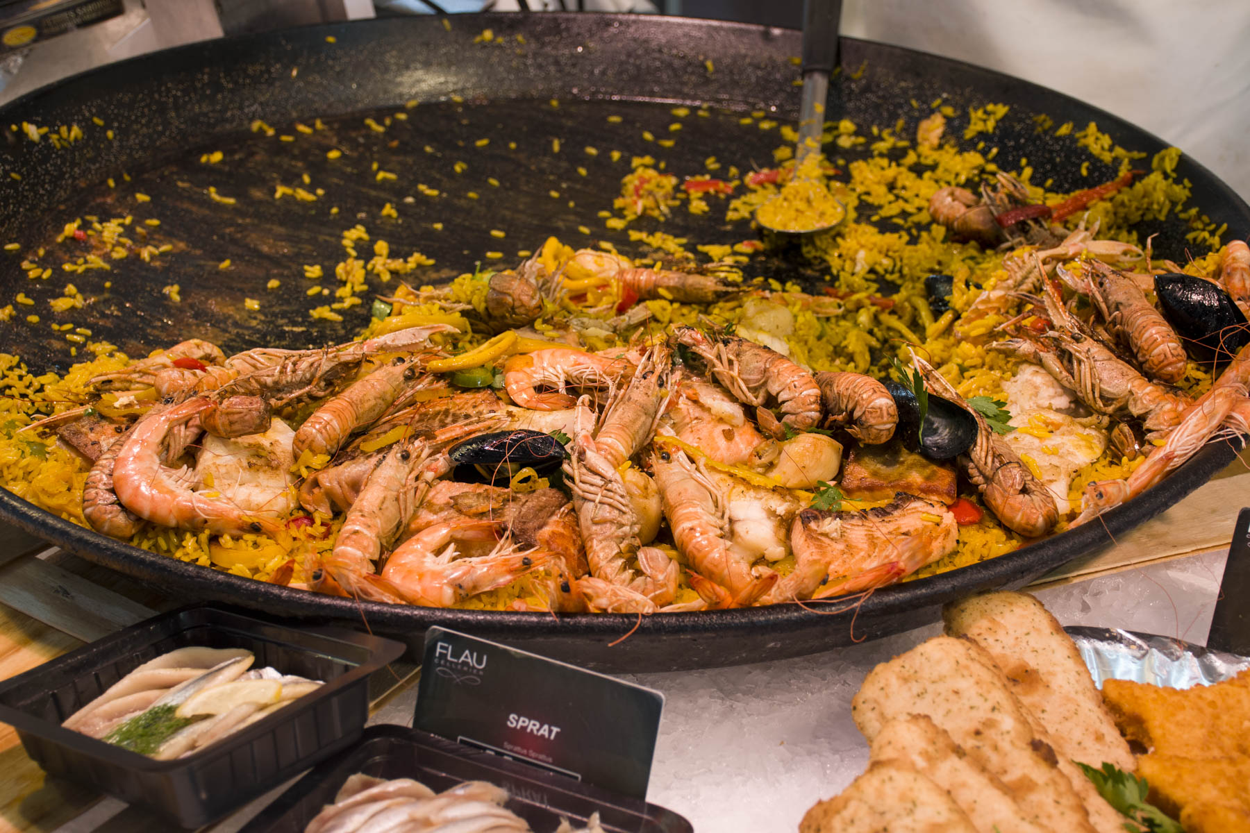 Paella on the Ferney Voltaire market