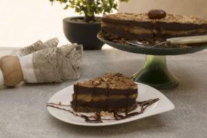 Cute little twisted chocolate and peanut cake