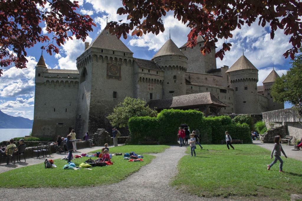 Lake Geneva Chillon castle