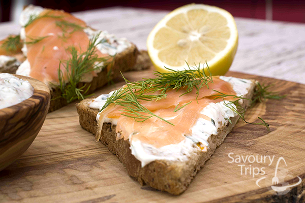 salmon with cheese