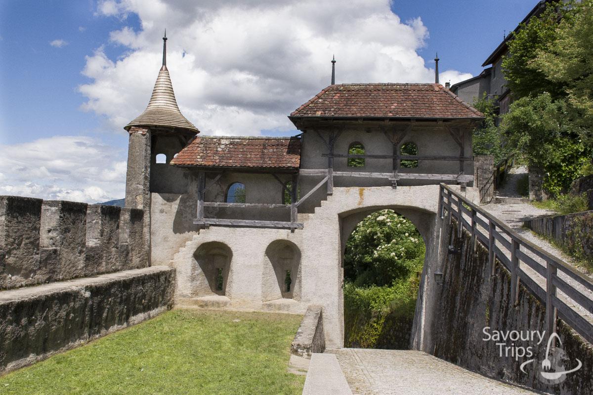 Trip to Gruyere, Entrance in Gruyère Castle