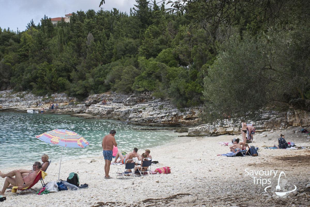 Kefalonija plaže, Fiskardo plaža