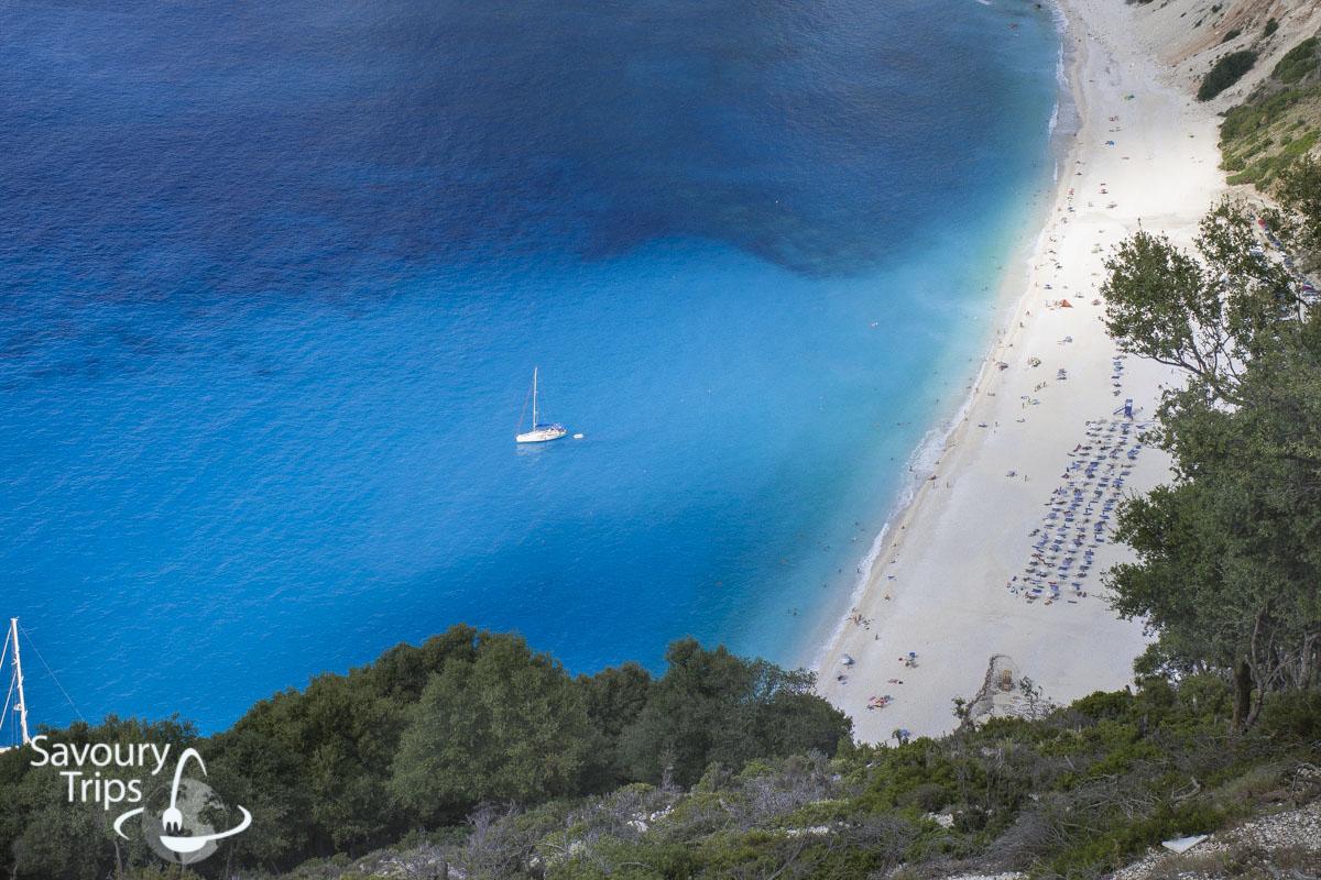 Kefalonija plaže, plaža Myrtos