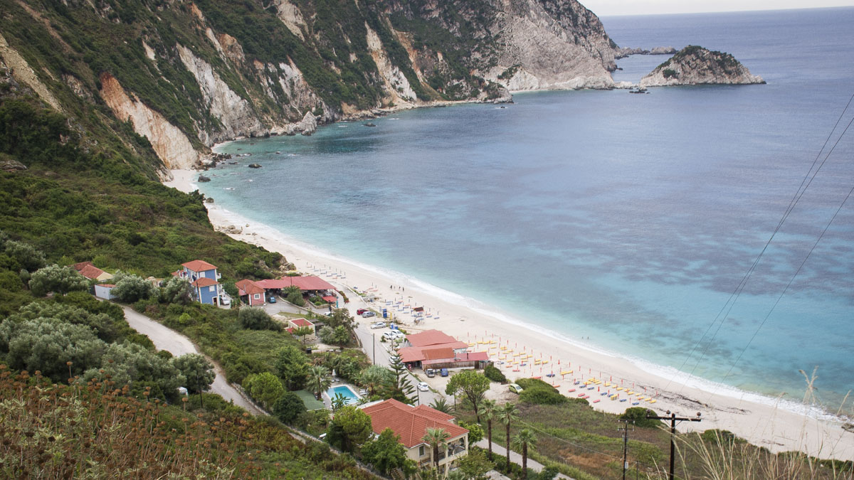 Guide to Kefalonia, Petani beach