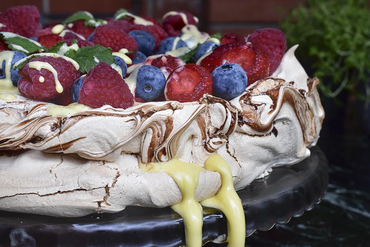 vocna torta, krempita, pavlova