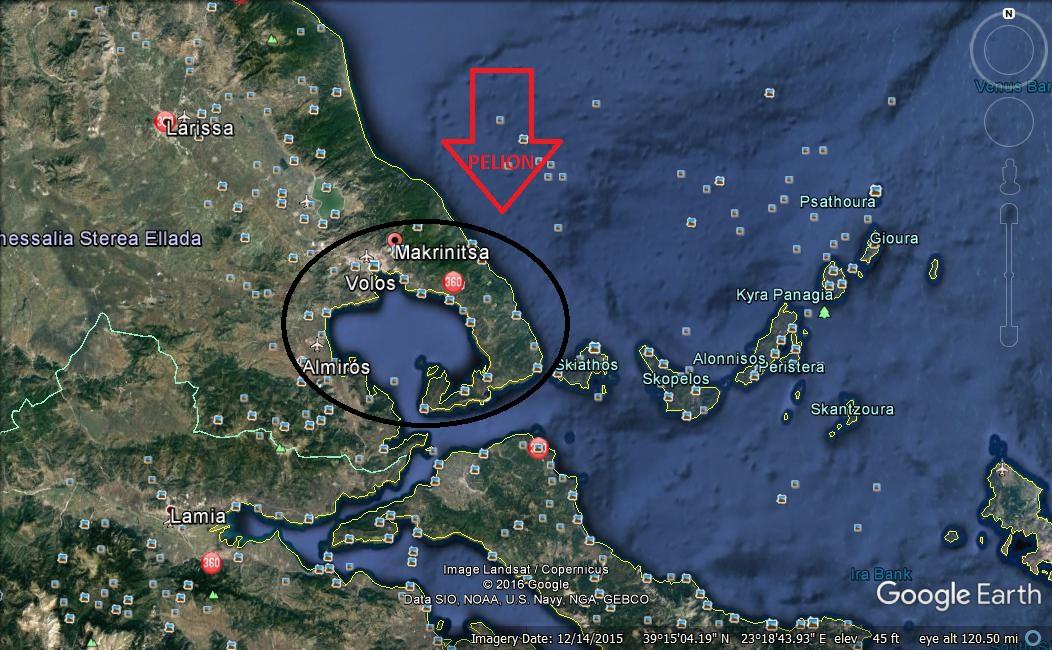 Pelion Google map