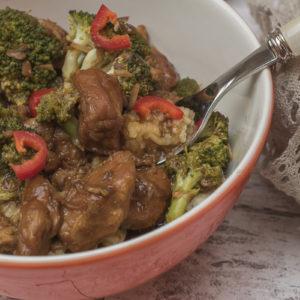 Crock pot teletina sa povrćem u soja sosu