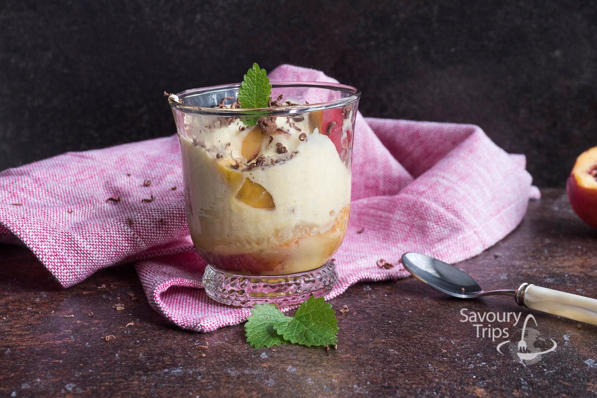 kolac od breskve /peaches in muscat wine recipe