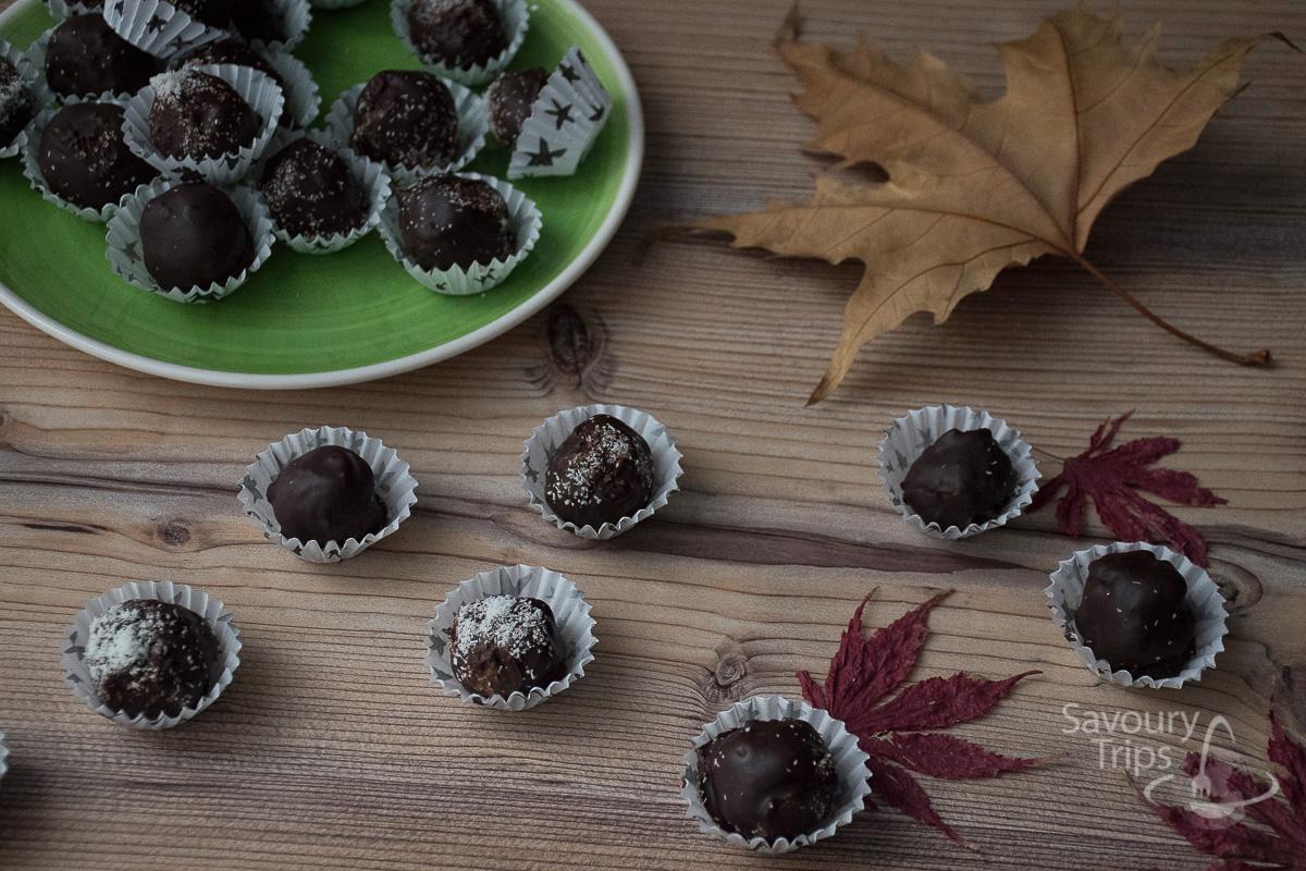 Posni sitni kolači od bundeve i čokolade / Pumpkin chocolate bites