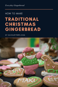 Traditional gingerbread cookies recipe with easiest decoration