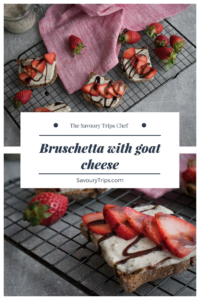 Recept za bruskete sa kozijim sirom i jagodama/Recipe for Bruschetta with goat cheese and strawberries