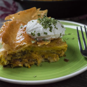 Pita od bundeve i gorgonzola sira - recept / Recipe for Roasted Pumpkin Pie with Gorgonzola cheese