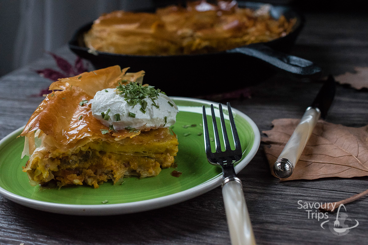 Recept za pitu od bundeve i gorgonzola sira / Recipe for Roasted Punpkin Pie with Gorgonzola Cheese
