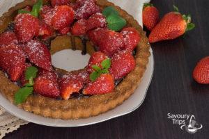Recept za Tart od jagoda i čokoladeTart od jagoda i čokolade / Strawberry Tart Recipe