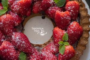 Recept za Tart od jagoda i čokolade/Tart od jagoda i čokolade / Strawberry Tart Recipe