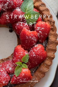 Recipe for Strawberry Tart with chocolate