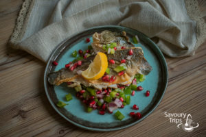 Orada recept pečena u tiganju sa salsom od nara/Sea bream recipe fried in pen with pomegranate salsa