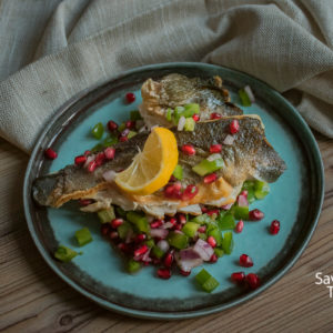 Orada recept pečena u tiganju sa salsom od nara/Sea bream recipe fried in pen with pomegranate salsa