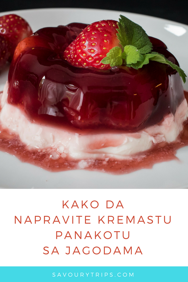 Panakota recept sa jagodama/ Pannacotta Recipe with strawberries